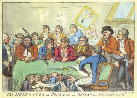 Delegates in_council_or_beggars_on_horseback