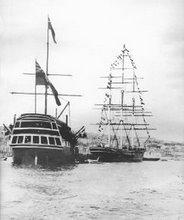 hms_foudroyant_and_cutty_sark_falmouth