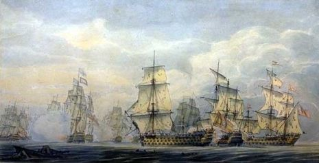 Battle of Cape St Vincent by Robert Cleveley